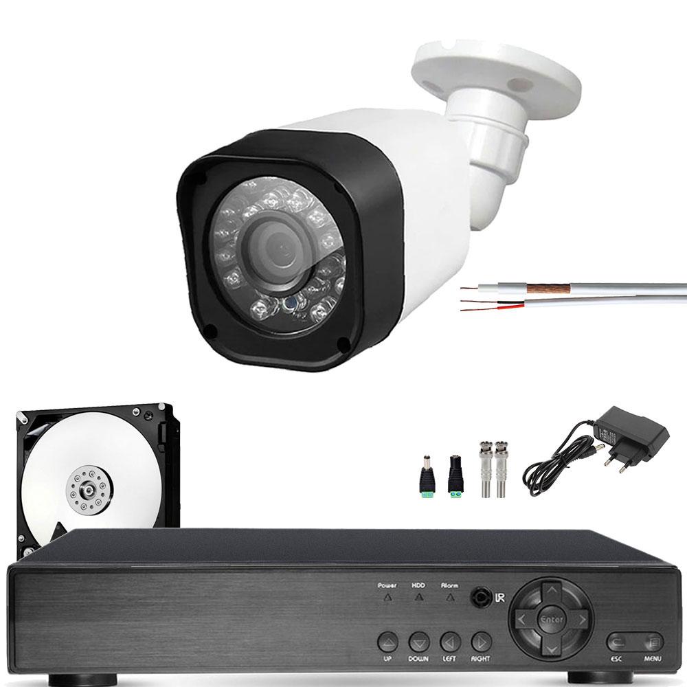 Kit 1 Camera Infravermelho Externa Full Hd 1080p 20Mts Completo