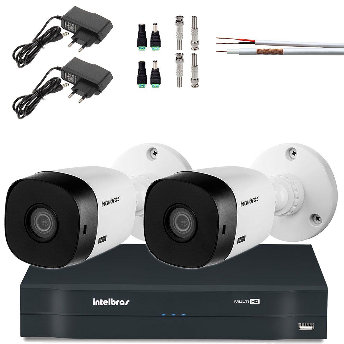Kit 2 Cameras Bullet Intelbras Hd 720p Hdcvi Vhl 1120 B