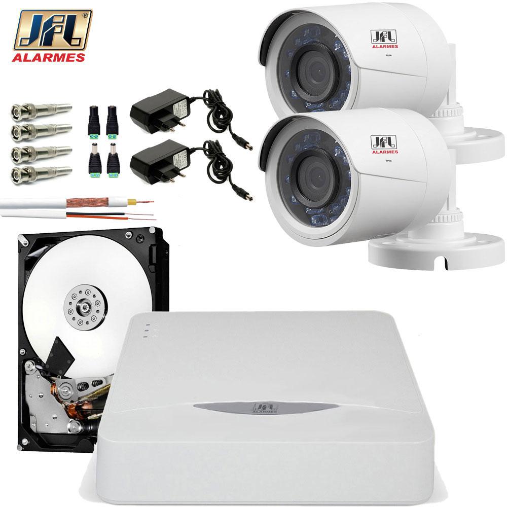 Kit 2 Cameras De Segurança Infravermelho 30Mts Jfl Hd 720p Chd 1230p