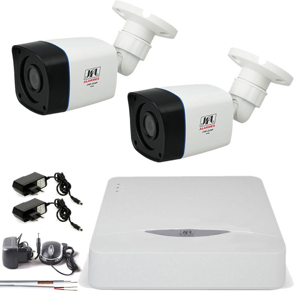Kit 2 Cameras Infra Full Hd 1080p 2Mp Bullet Externa Chd 2320p Jfl
