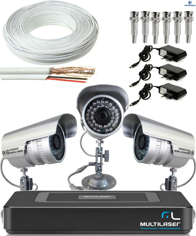Kit 3 cameras de seguran a dvr ahd for Kit da garage stand alone