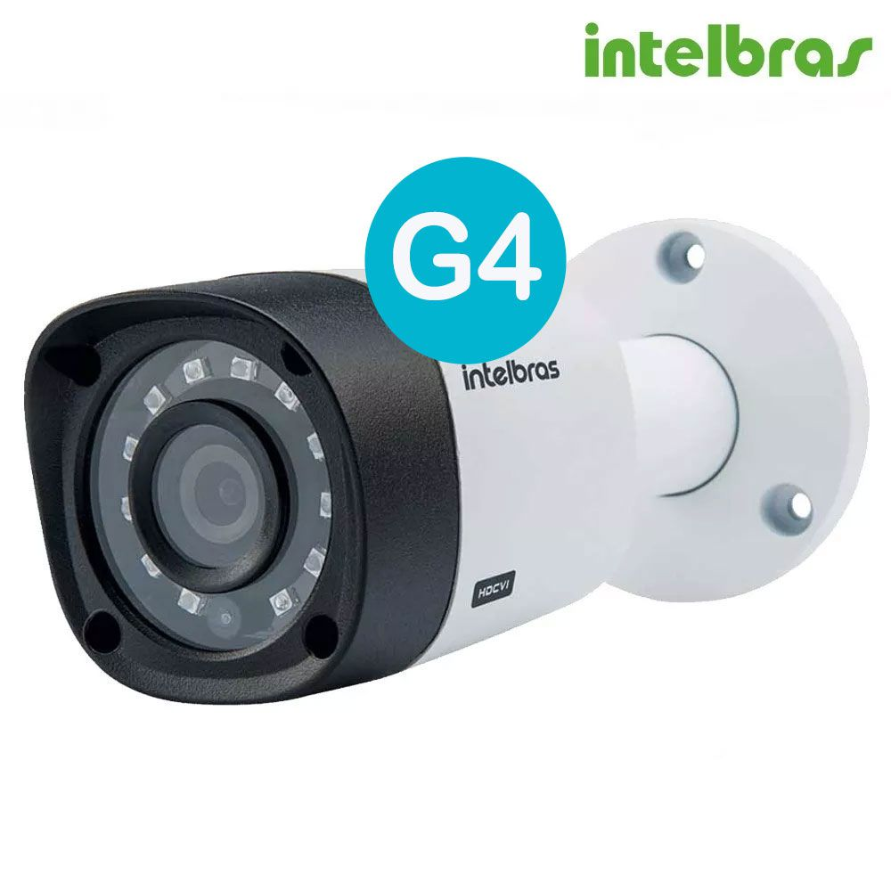 Kit 6 Cameras Intelbras Full Hd 1080p 2mp Vhd 1220b Dvr 8ch Mhdx 1008 Completo
