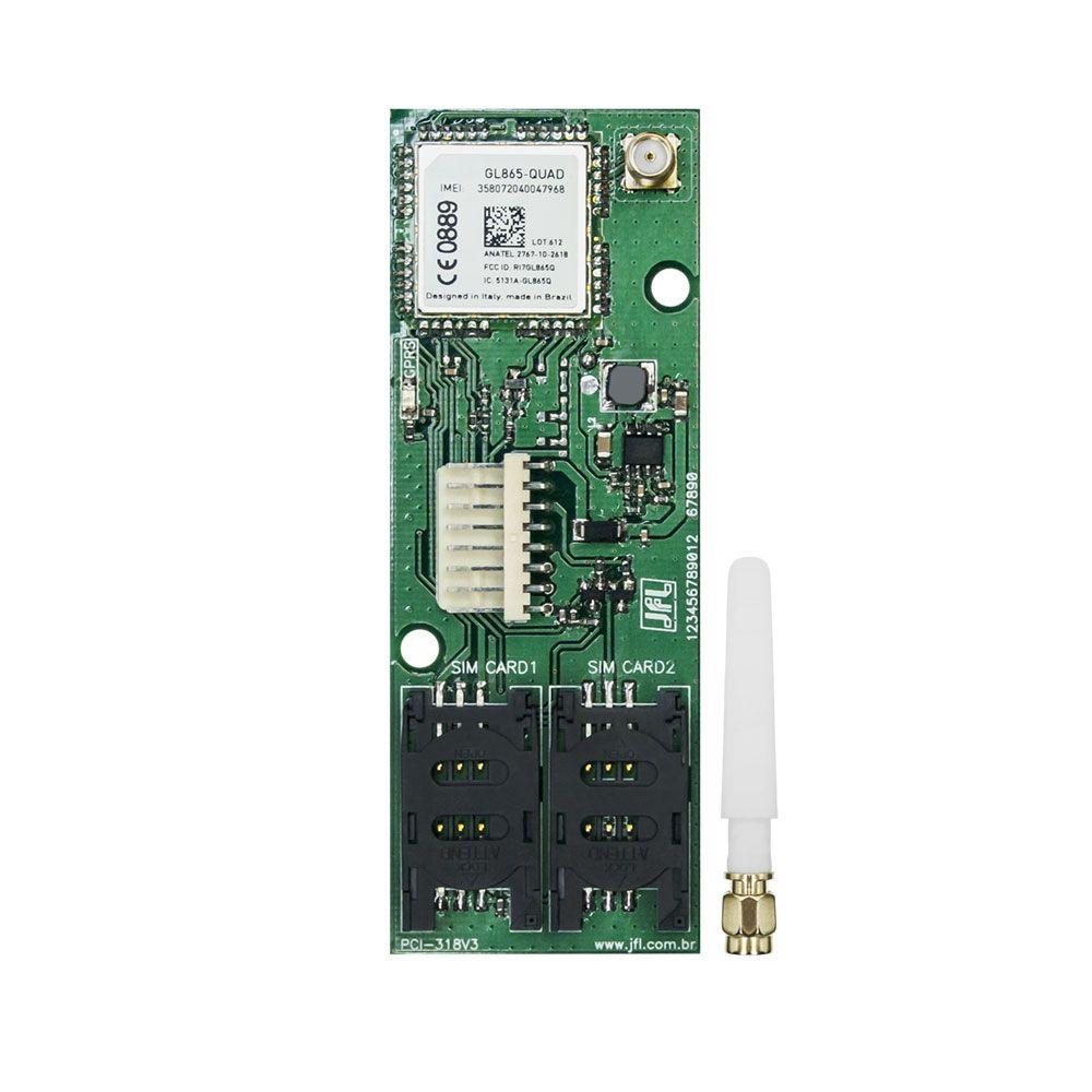 Kit Alarme Active 20 Ethernet Com Gprs e Sensores Idx 1001 e Ird 640