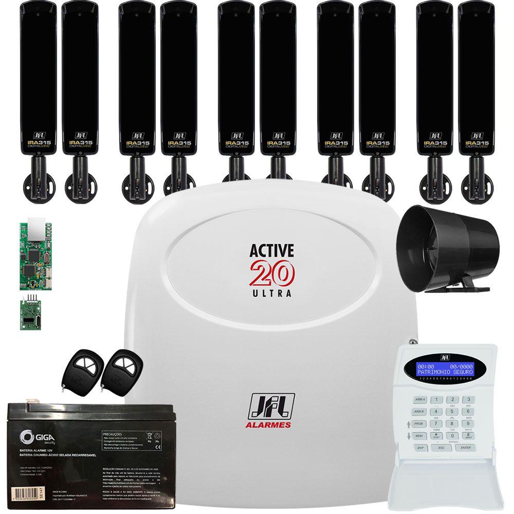 Kit Alarme Active 20 Ultra Com Sensor Iva 315 Jfl