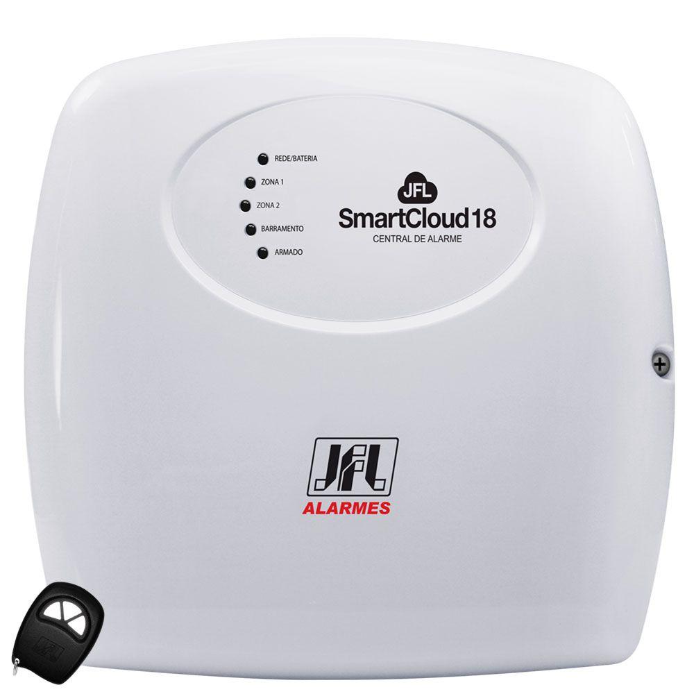 Kit Alarme Jfl SmartCloud 18 e Sensores Internos Idx 1001