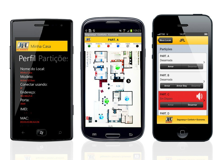 Kit Alarme Monitorado Active 20 Ultra Sensor Externo Dse 830 Jfl