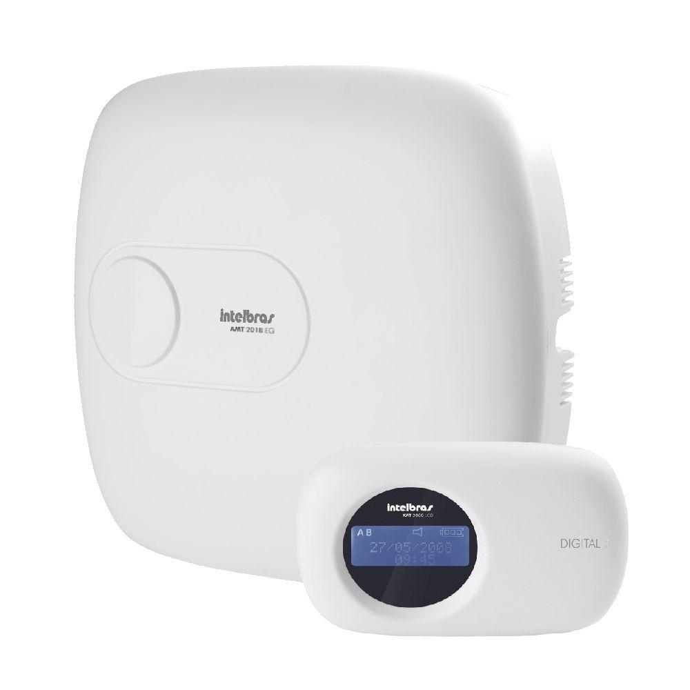 Kit Alarme Monitorado Intelbras Amt 2018eg Sensor Iva 3070x