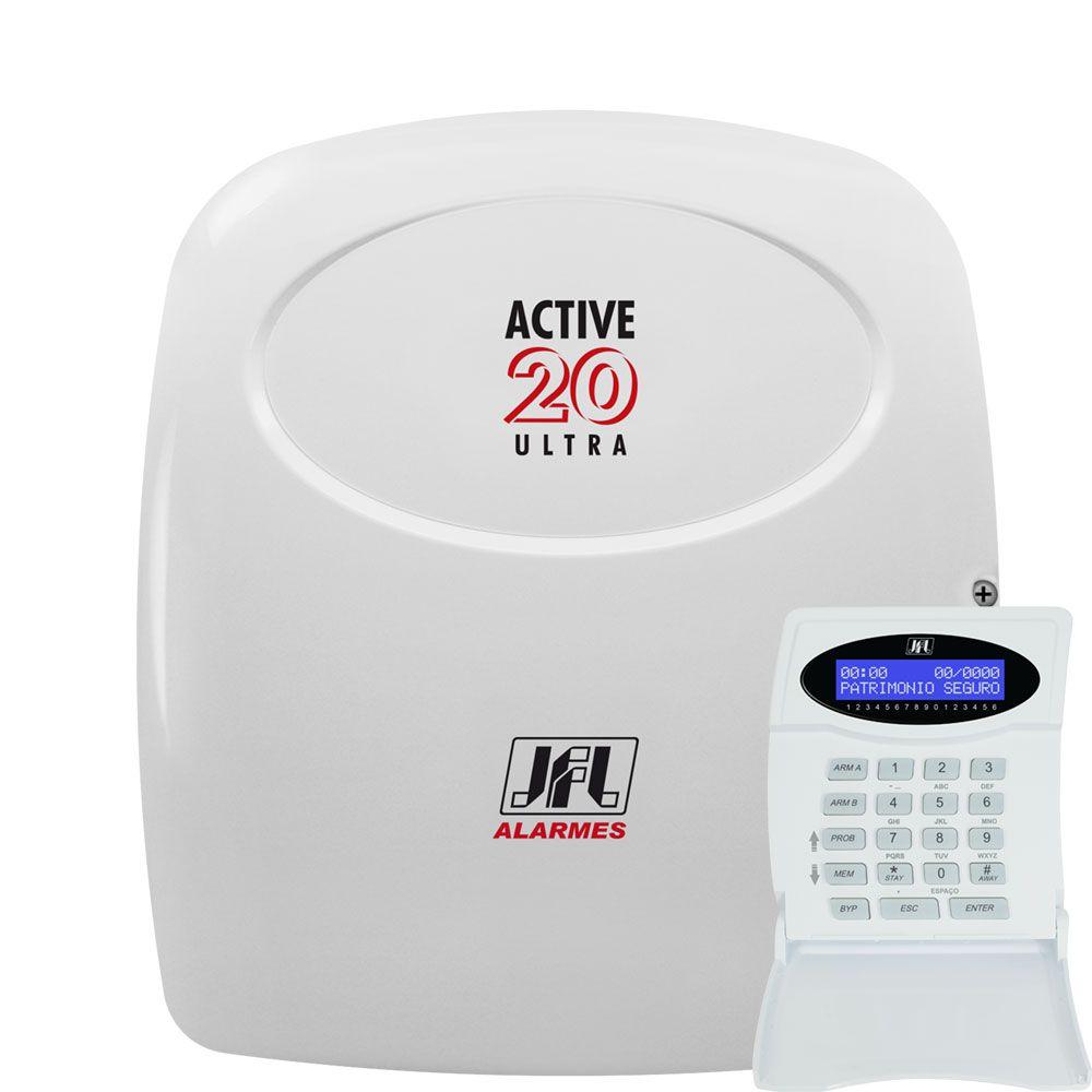 Kit Alarme Residencial Active 20 Ultra Com Modulo Gprs Jfl