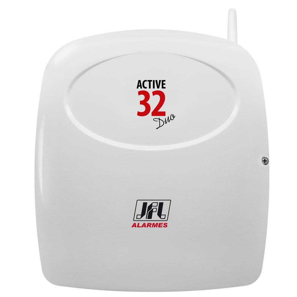 Kit Alarme Residencial Active 32 Duo Jfl Com Sensor Sem Fio Jfl