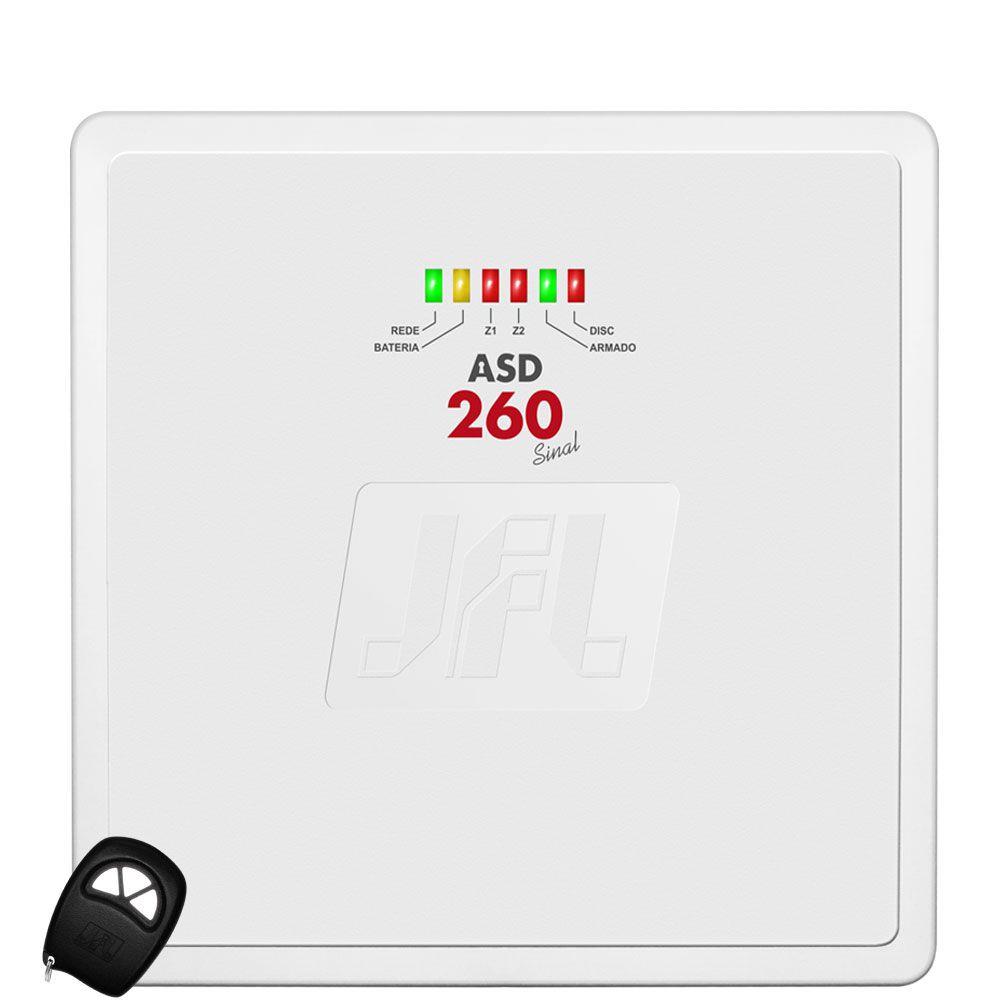 Kit Alarme Residencial Asd 260 Sensores Semi Externos Ird 640 Pet 30kg Jfl