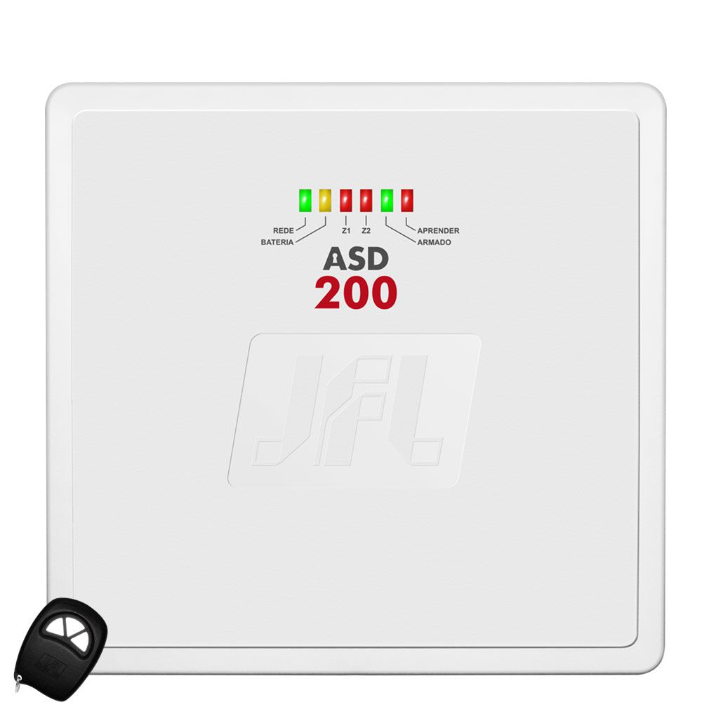 Kit Alarme Residencial Central Asd 200 Com Sensor Ird 640 Jfl