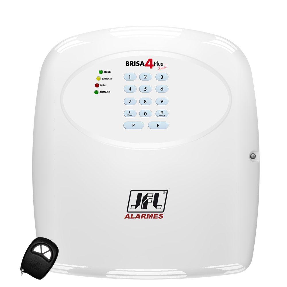 Kit Alarme Residencial Com Discadora E Sensores Sem Fio Brisa 4 Sinal Jfl