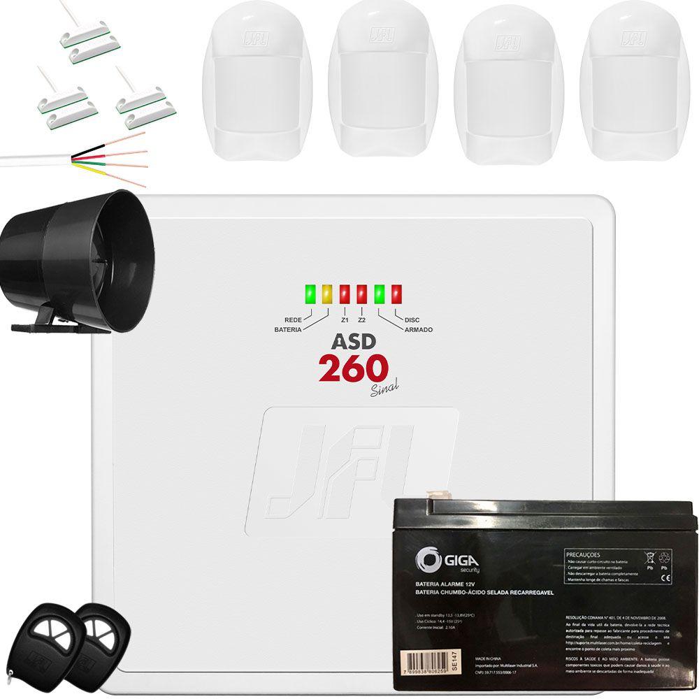 Kit Alarme Residencial Discadora Fixa Asd 260 Jfl Com Fio