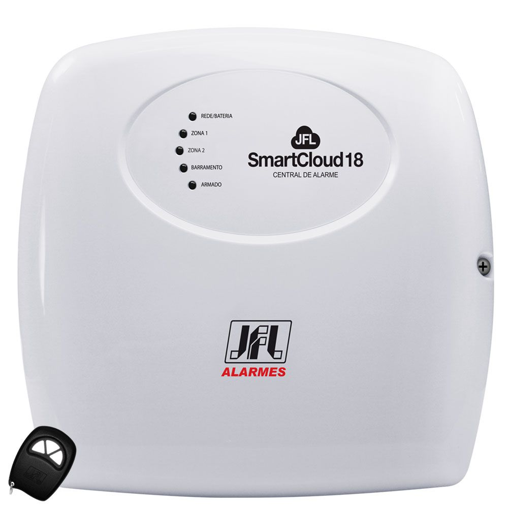 Kit Alarme Residencial Smart Cloud 18 Jfl Sensores Shc Fit e Irs 430i