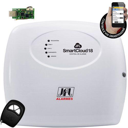 Kit Alarme Residencial Smartcloud 18 Jfl Com Discadora Gsm