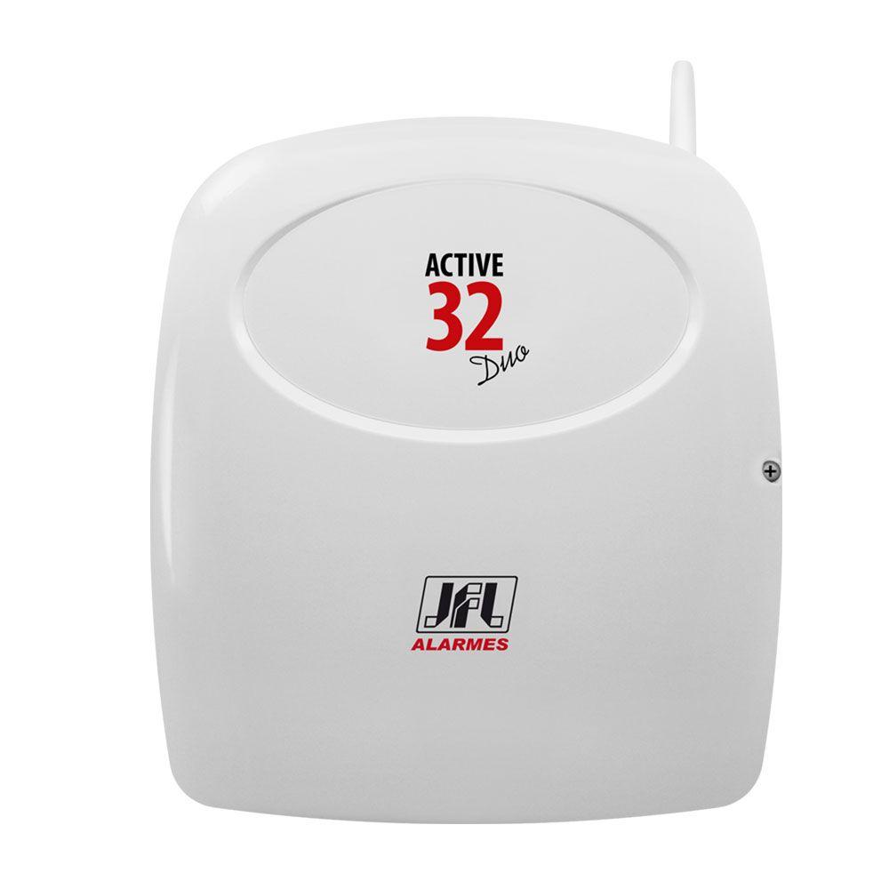 Kit Alarme Sem Fio Jfl Active 32 Duo Com Ir Pet 520 Duo e Sl 220