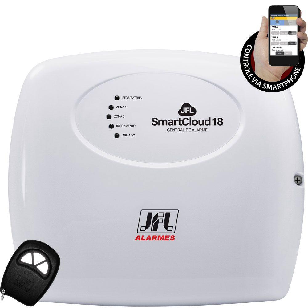 Kit Alarme Smart Cloud 18 Jfl 8 Sensores Sem Fio Shc Fit