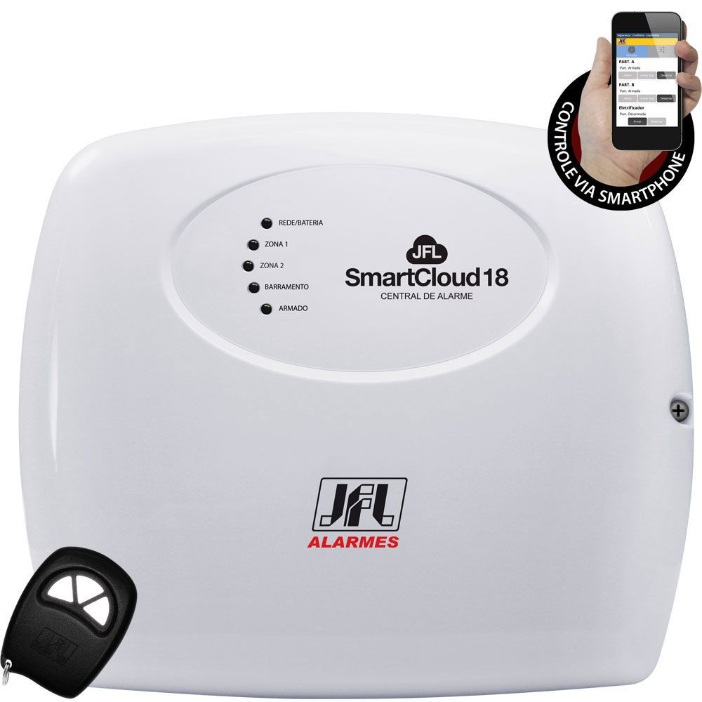 Kit Alarme Smart Cloud 18 Jfl com Sensores Sem Fio