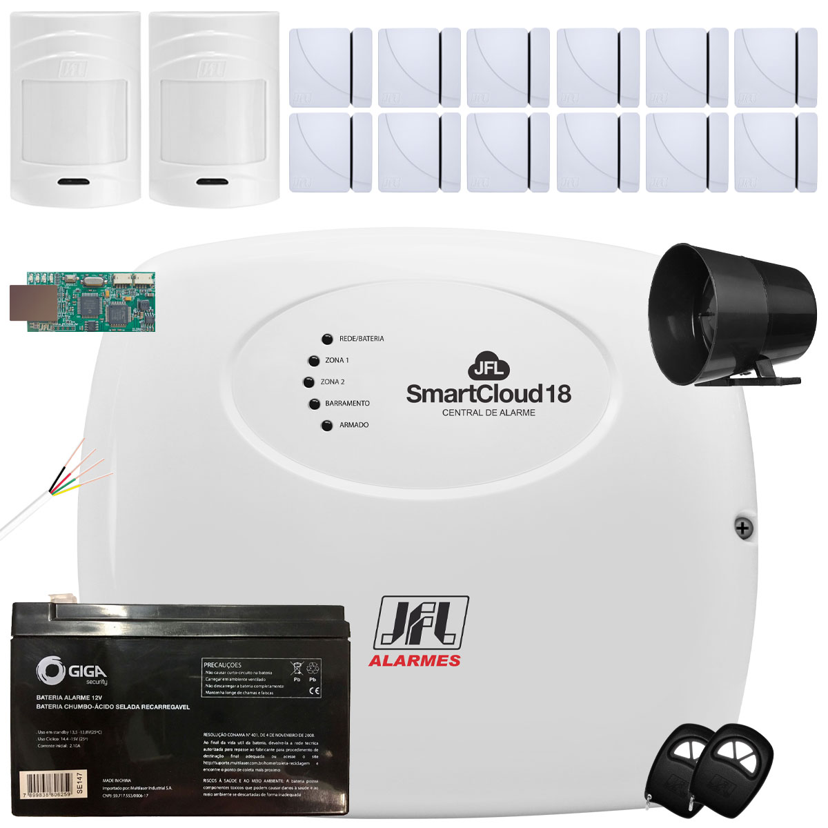 Kit Alarme SmartCloud 18 Jfl  Com 12 Shc Fit e 2 IrPet 530Sf