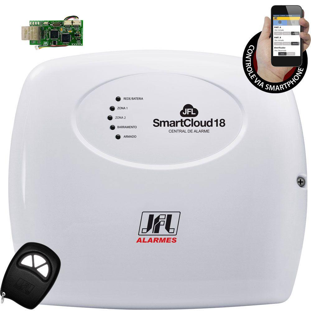 Kit Alarme Smartcloud 18 Jfl Com Discadora Gsm +Ira 20 + Ird 640