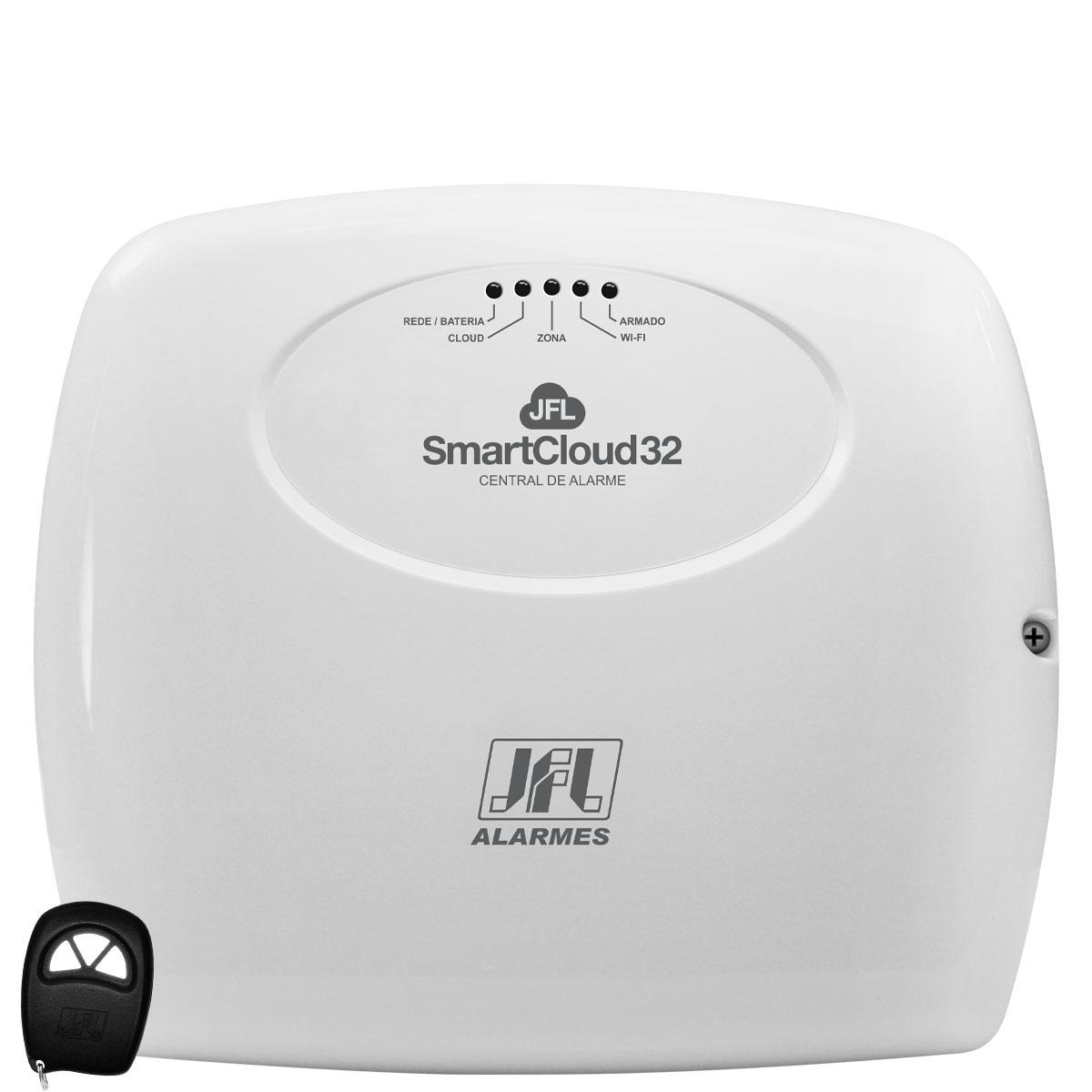 Kit Alarme SmartCloud 32 Jfl Com 2 Sensores Idx 1001