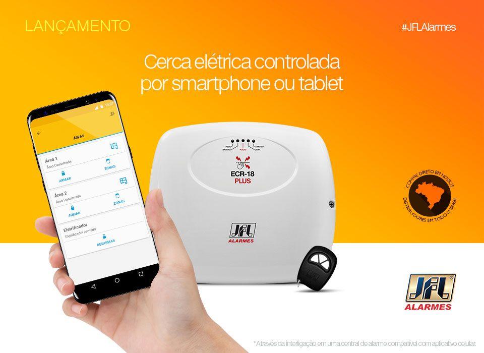 Kit Central de Choque e Alarme Ecr 18 Jfl Acesso via App