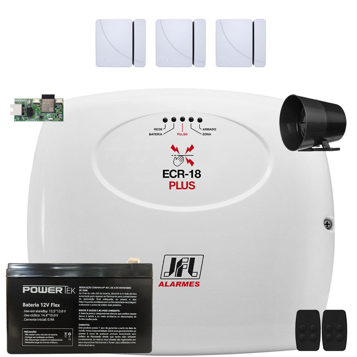 Kit Central de Choque Ecr 18 Com Sensores Magneticos S/ Fio