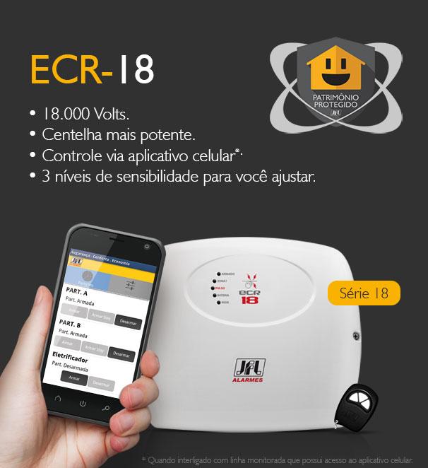 Kit Cerca Eletrica E Alarme Ecr 18 Jfl Terrenos 10x25 70mts Mts Jfl