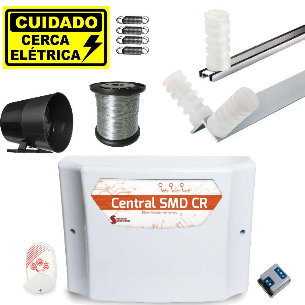 Kit Cerca Elétrica Para Terreno 10x30 Com Controle Remoto Smd Cr