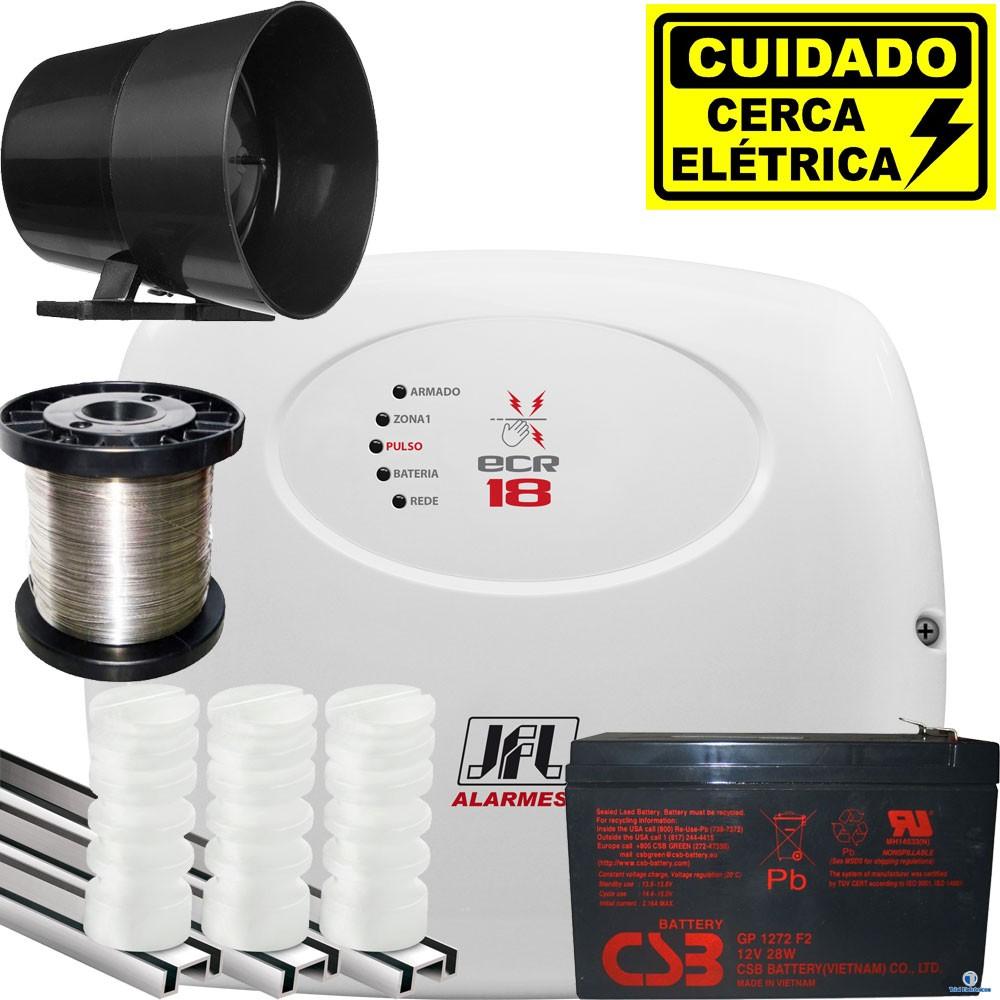 Kit Cerca Elétrica Residencial Central Ecr 18 Jfl Para 80mts Jfl