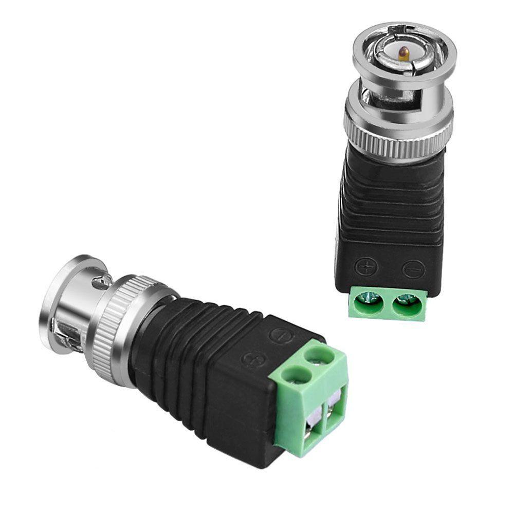 Kit Conectores Cftv 20 Bnc Borne 20 P4 Macho 20 P4 Femea