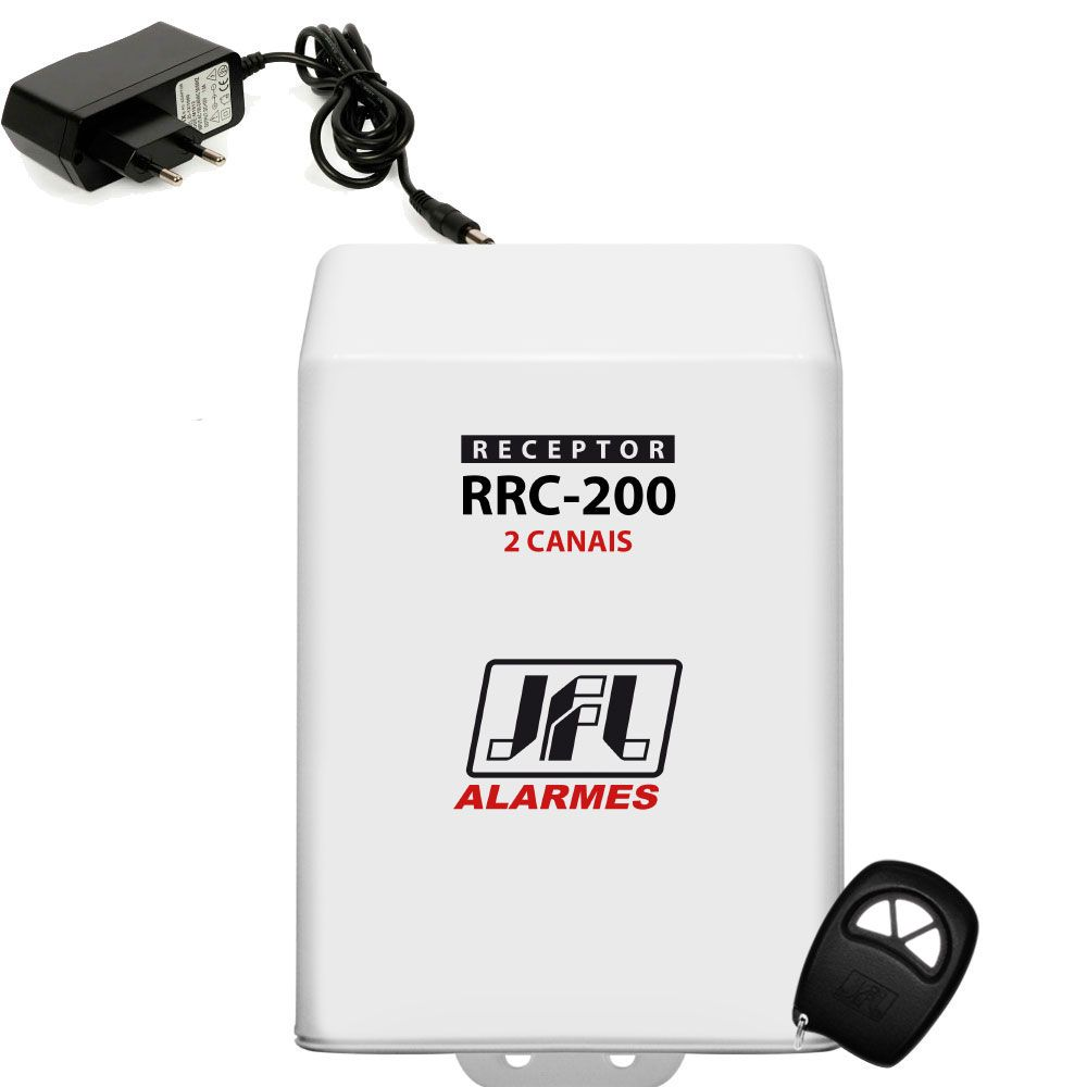 Kit Receptor 2 Canais Rrc 200 Jfl Com Fonte E Controle