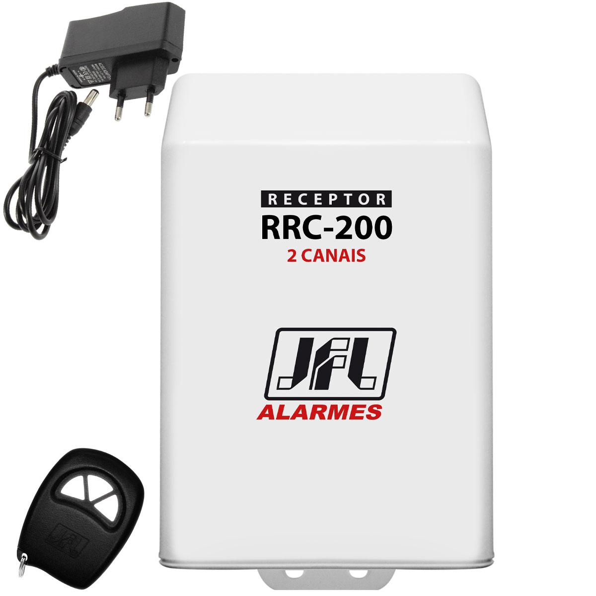 Kit Receptor de 2 Canais Jfl Rrc 200 Com Controle Remoto e Fonte