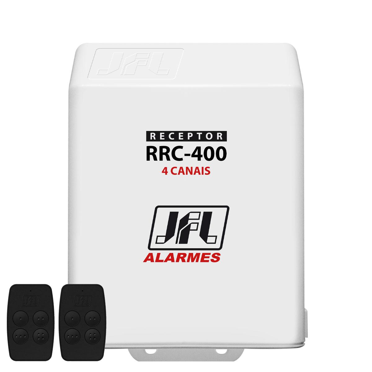 Kit Receptor Multifuncional Rrc 400 Jfl 4 Canais Com Controle Remoto