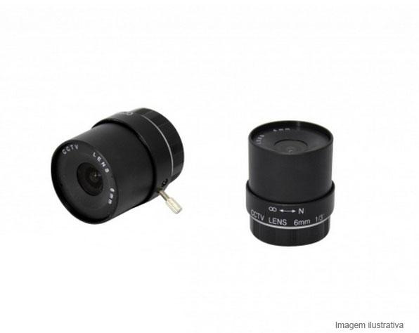 Lente Iris Fixa Para Camera De Segurança Profissional 1/3 6mm