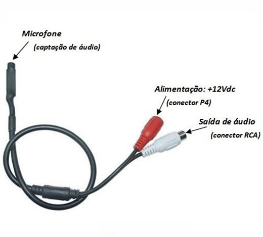 MINI MICROFONE AMPLIFICADO PARA CFTV