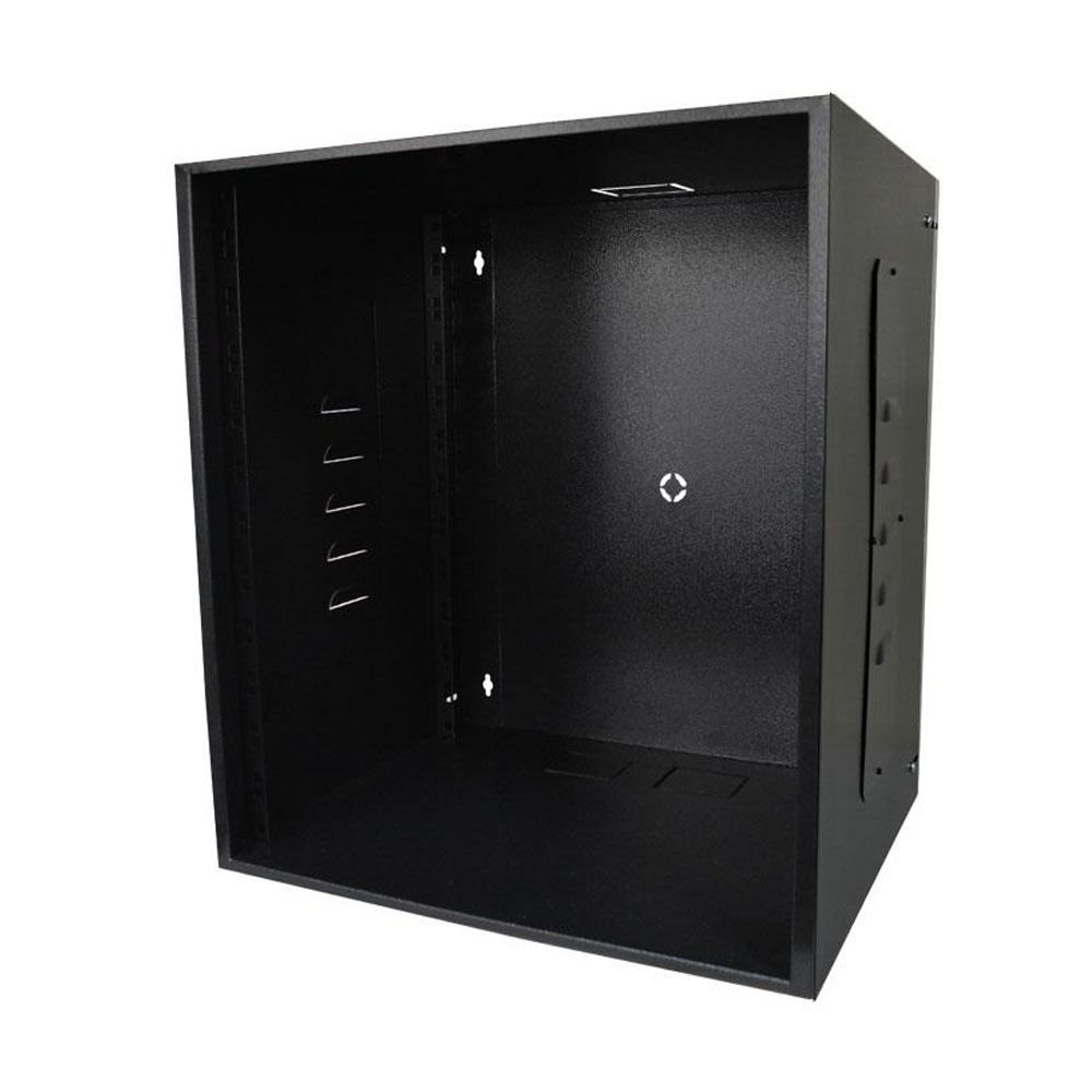 Mini Rack 12u X 400mm Economic Porta C/ Visor Acrílico Preto