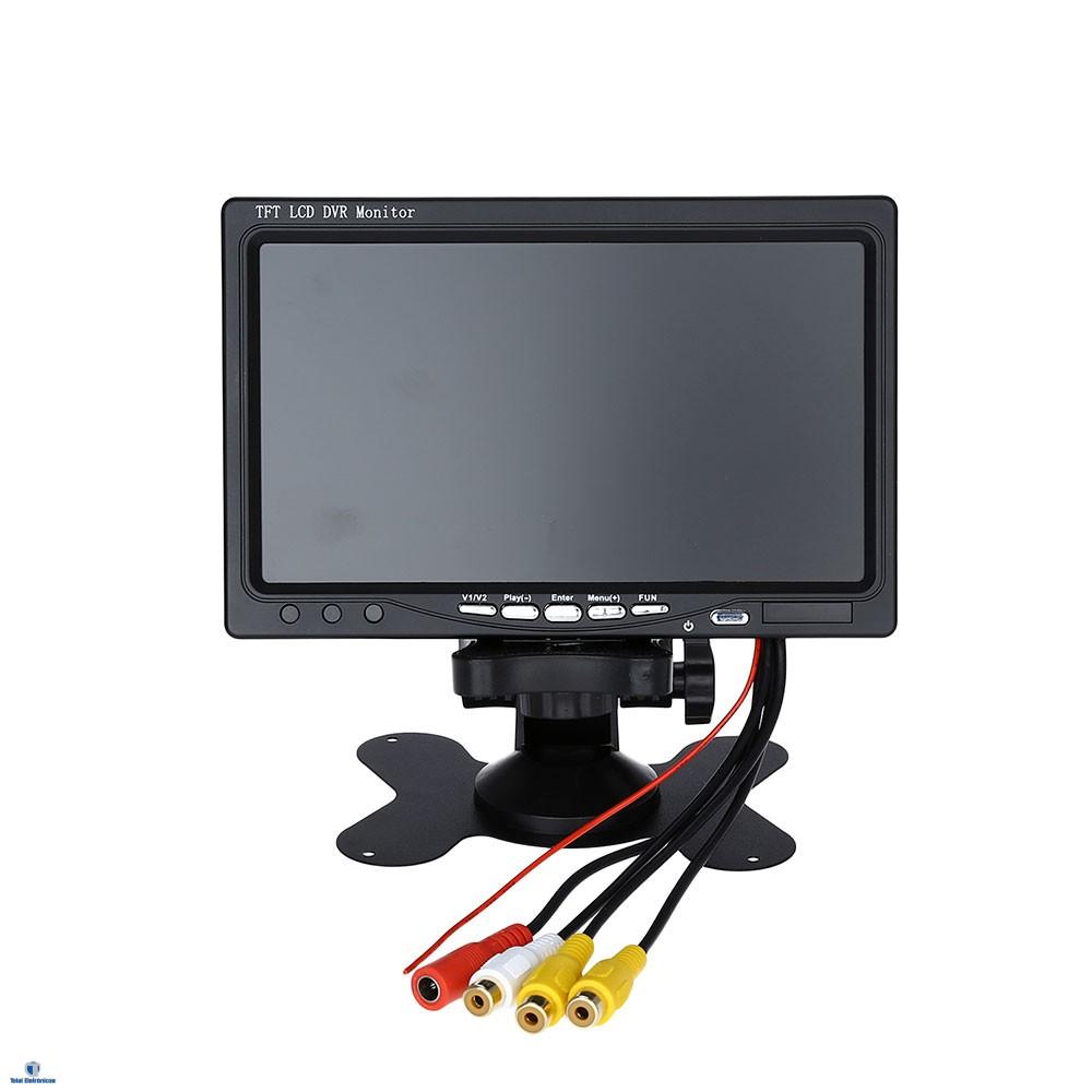 Monitor Portátil Lcd 7 Polegadas Colorido Tft Para Cftv