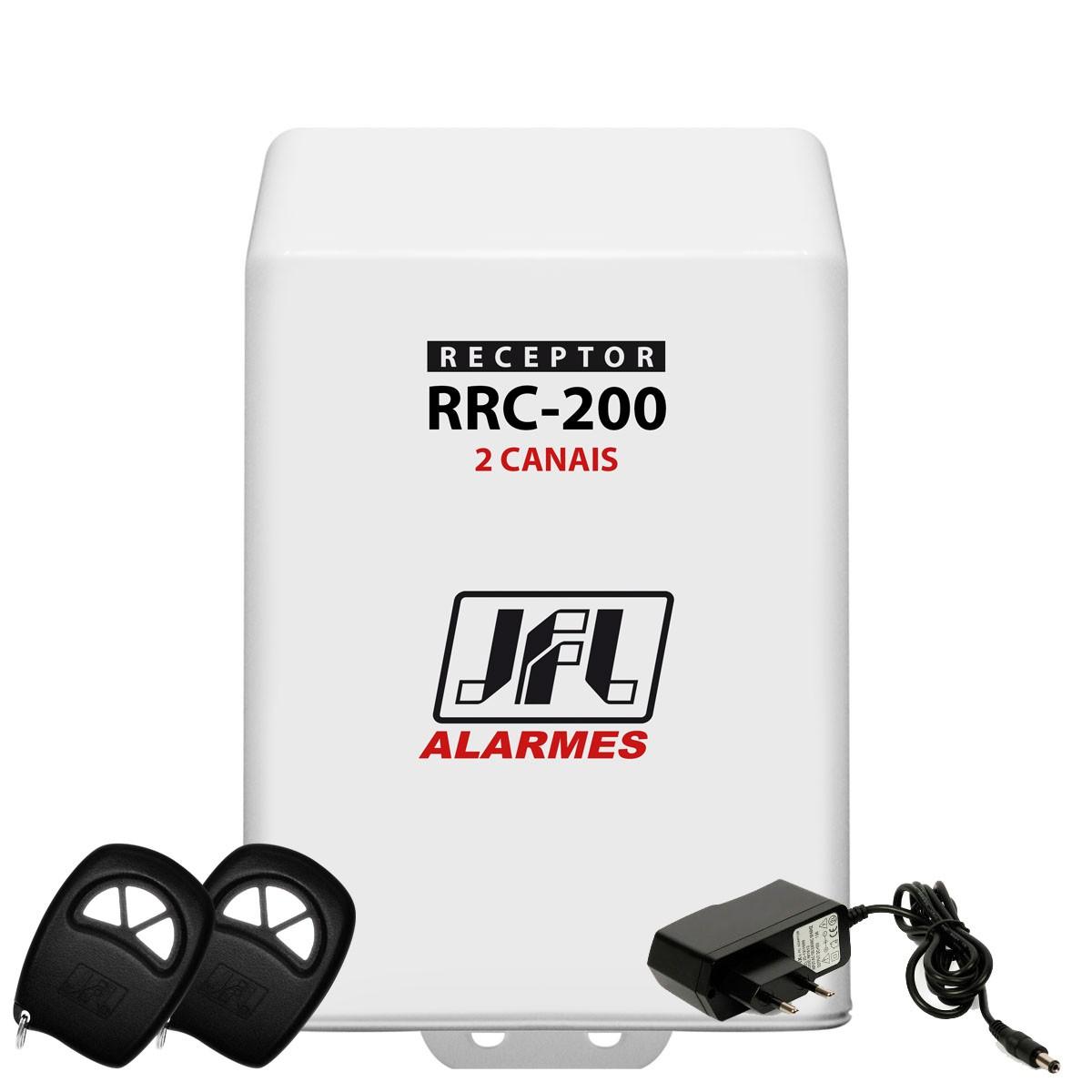 Kit Receptor de 2 Canais Jfl Rrc 200 Com Controle E Fonte