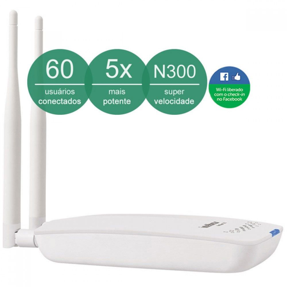 Roteador Wireless N Corporativo Check In Hotspot 300 Intelbras