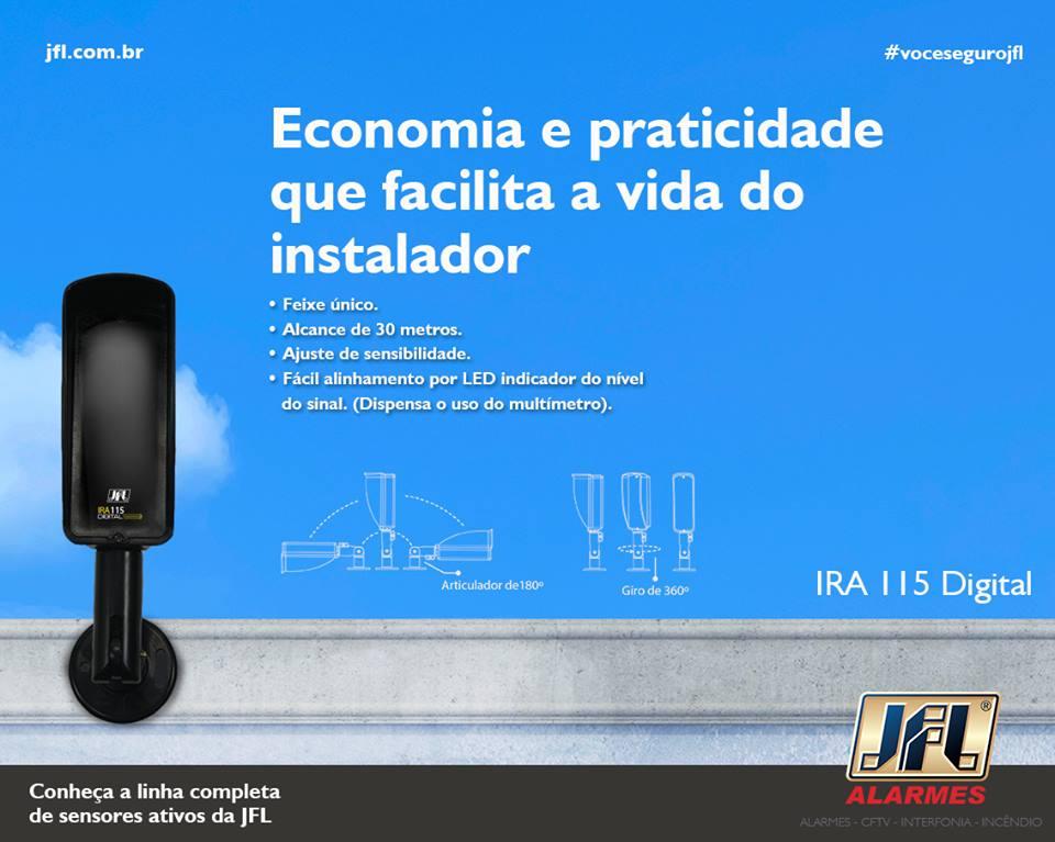 Sensor De Barreira Ativo Digital Feixe Único 60mts Ira 115 Jfl