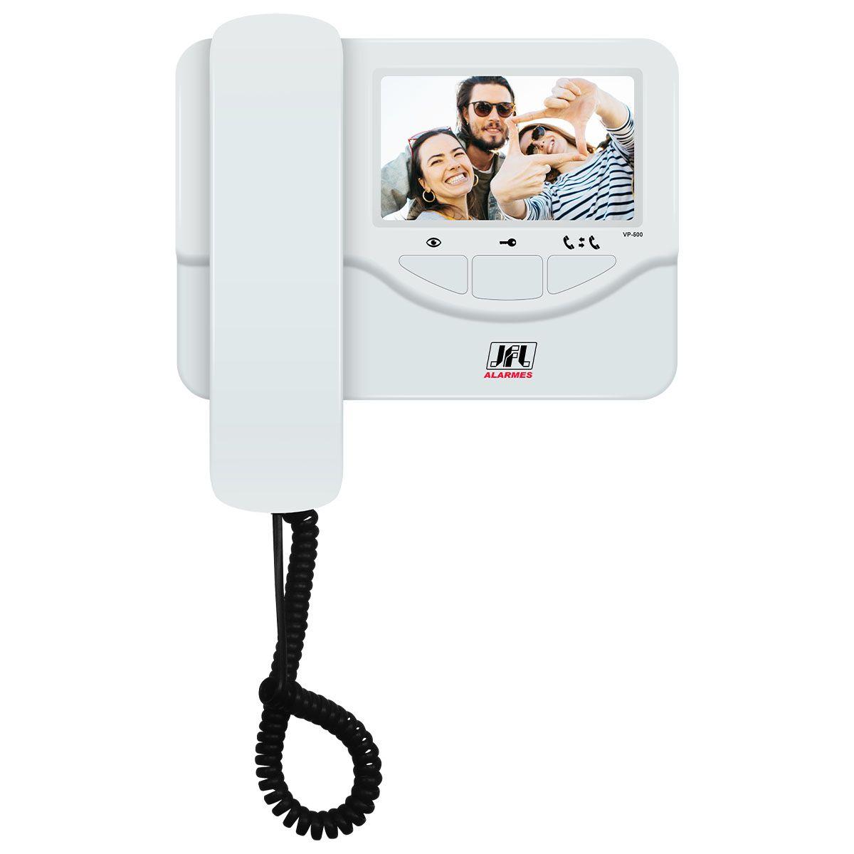 Video Porteiro Colorido Tela De 4,3 Vp 500 Com Monofone Jfl