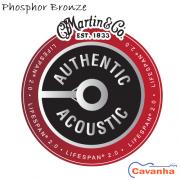Cordas violão Martin Authentic Lifespan 2.0 Phosphor Bronze