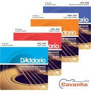 Encordoamento Daddario Phosphor Bronze para violão de 12 cordas (Aço)