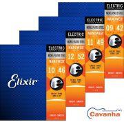 Encordoamento Elixir Nanoweb para guitarra (Calibres regulares)