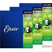 Encordoamento Elixir Optiweb para guitarra (Calibres regulares)
