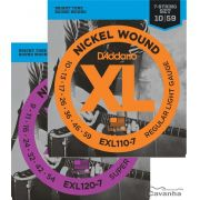 Encordoamento Guitarra 7 Cordas D'Addario XL Nickel Wound