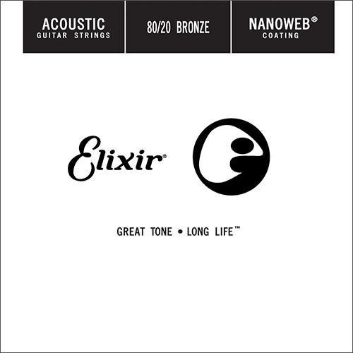 Corda avulsa Elixir Nanoweb Aço 80/20 Bronze (violão)  - Cavanha Acessorios Musicais