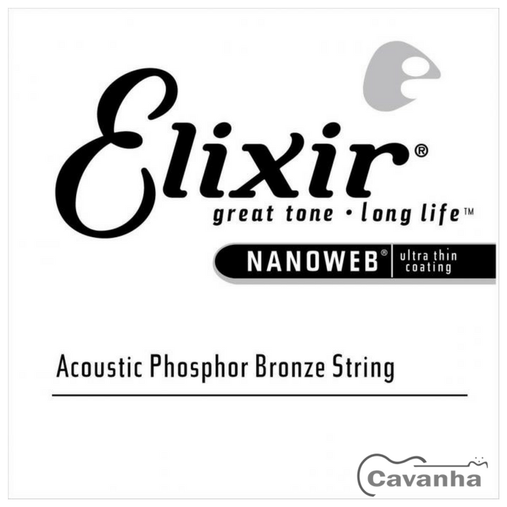 Corda avulsa Elixir Nanoweb Aço Phosphor Bronze (violão)  - Cavanha Acessorios Musicais