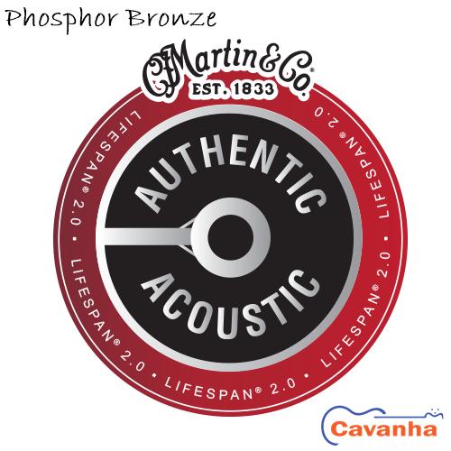 Cordas violão Martin Authentic Lifespan 2.0 Phosphor Bronze  - Cavanha Acessorios Musicais